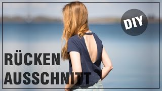 DIY Rückenausschnitt Shirt - schnell, einfach, leicht - DIY Fashion April