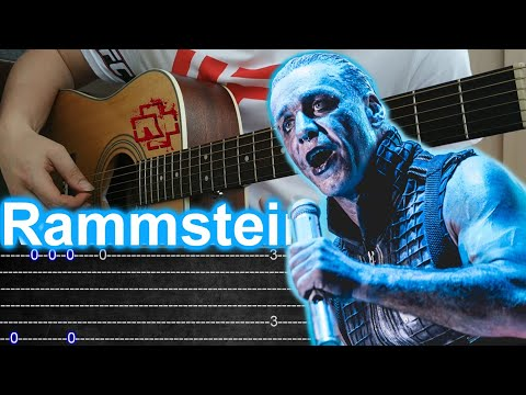 How to play Rammstein Mutter fingerstyle guitar +TAB
