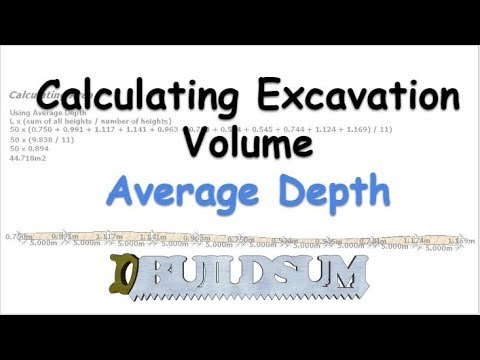 Calculating Excavation Volume Average Depth