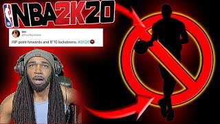 NBA 2K20 NEWS - R.I.P.  PURE POINT FORWARDS CONFIRMED!! HUGE LEARNING CURVE!! ADDRESS DELAYERS!!