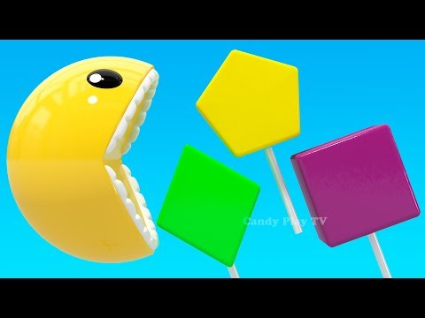 learning-colors-with-3d-pacman-lollipop-geometric-shapes-for-kids-children-toddlers-|-colours-pacman