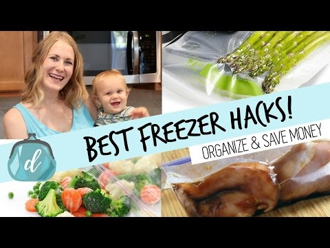 BEST way to freeze food & organize your deep freezer!