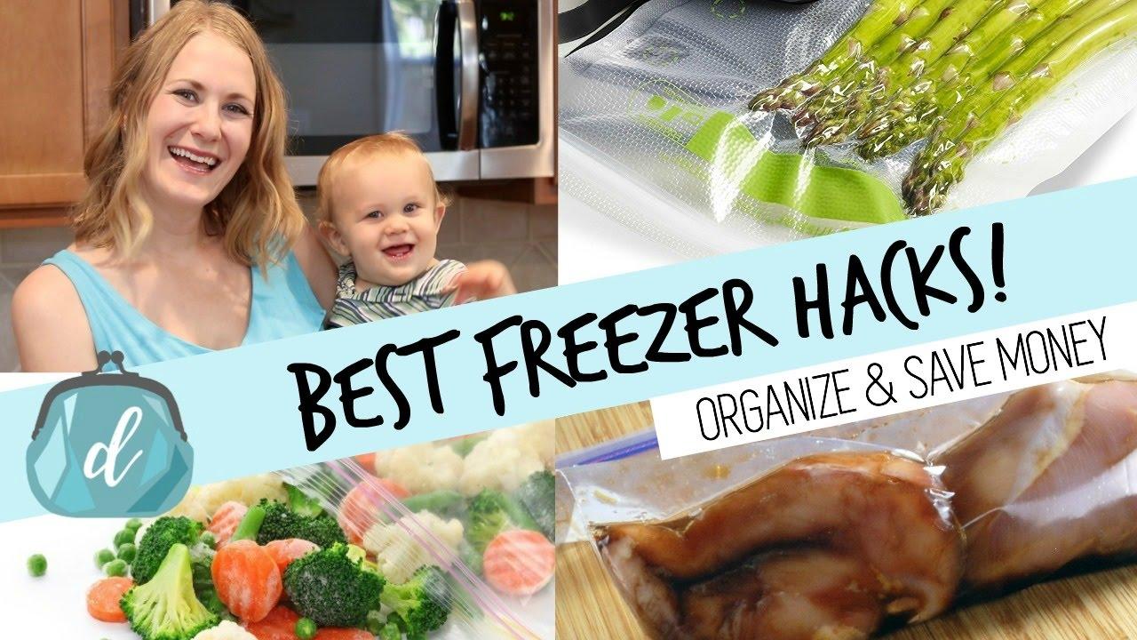 BEST way to freeze food & organize your deep freezer ...
