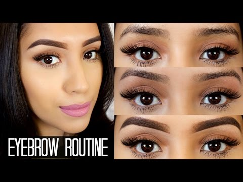 My Full Eyebrow Routine| Shaping,Threading,& Filling them ft. Anastasia Dip Brow Pomade