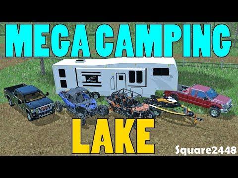 Farming Simulator 17 | Mega Camping At Lake | Dirt Track | New Jet Ski | Offroad Toys