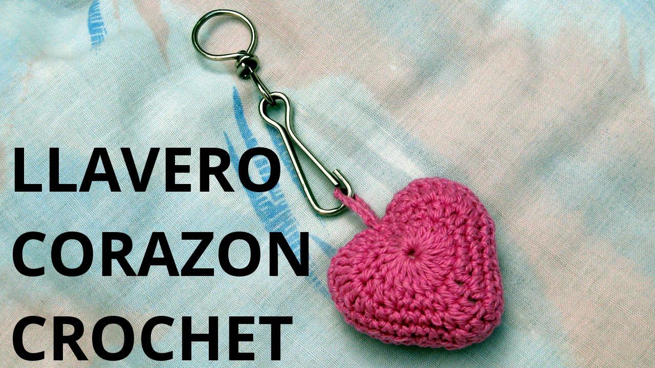 Como tejer un Llavero corazón San Valentín en tejido crochet ...