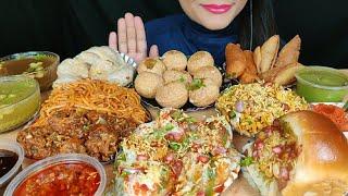 ASMR:EATING DAHIPURI,PAANIPURI/GOLGAPPE,CHOWMEIN,MOMO,DABELI,SAMOSA*STREETFOOD*EATING SHOW Spiceasmr