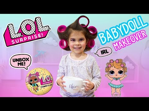 DIY How to Real Life L.O.L Surprise Doll BABYDOLL Makeover Confetti Pop UNBOXING