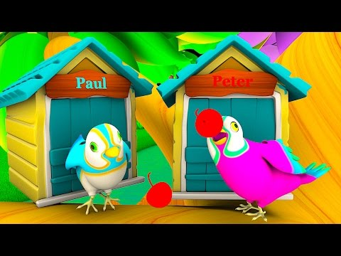 Two Little Dicky Birds | Kindergarten Nursery Rhymes & Songs for Kids | Little Treehouse S03E16