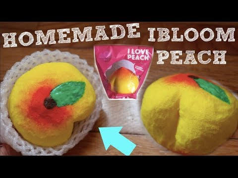 HOMEMADE IBLOOM PEACH!!! How To Make a RARE Squishy for FREE
