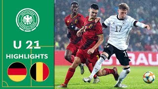 First Euro Qualifier defeat Germany vs Belgium 2 3 Highlights U 21 Euro Qualifier