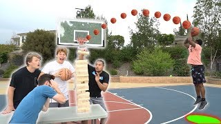 3 Point Challenge w/ LIFE SIZE JENGA COMPETITION ft. 2HYPE!
