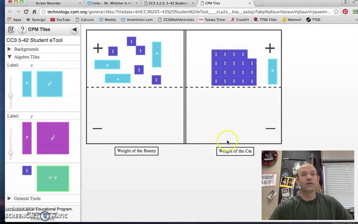 Cpm Etools Algebra Tiles