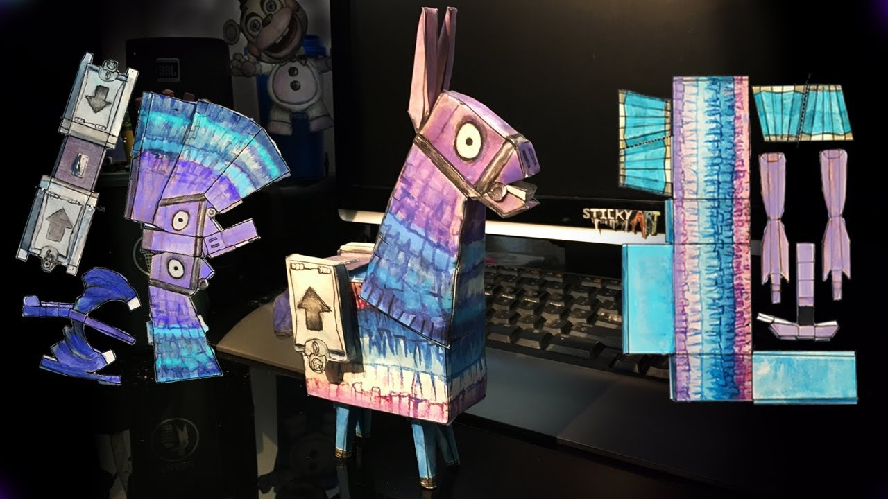 how to make loot llama template from fortnite 3d paper craft