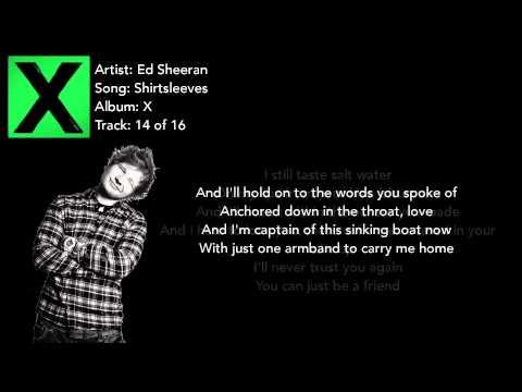 Shirtsleeves - Ed Sheeran Lyrics
