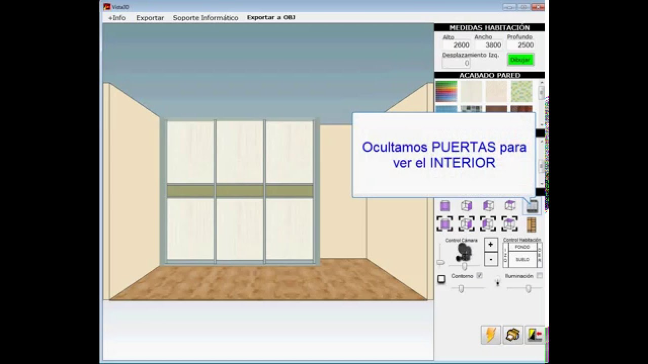 Programa software dise o armarios empotrados closets for Diseno de muebles 3d