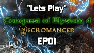 Lets Play | Conquest of Elysium 4 | Necromancer | EP01