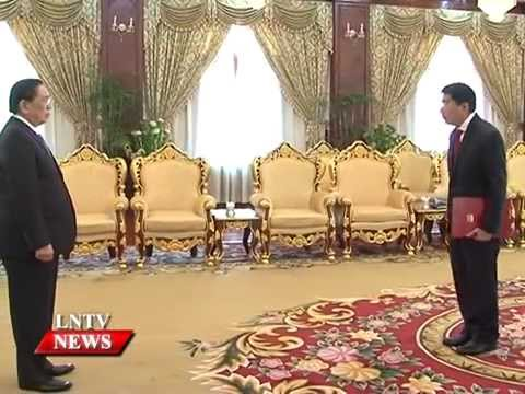 President receives 4 new ambassadors officially take up posts in Laos