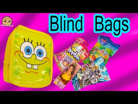 Surprise Mystery Blind Bag Toys Inside SpongeBob Square Pants Bag - Unboxing Video Cookieswirlc
