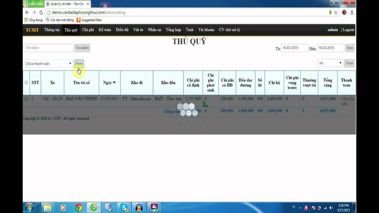 Hướng dẫn sử dụng phần mềm quản lý vận tải TMS