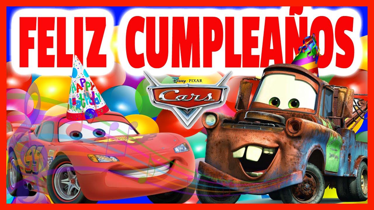 Cumpleaños Feliz Rayo Mcqueen Canta Los Juguetes Animados YouTube