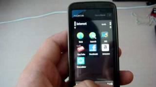Nokia 5530 menu demo and facebook