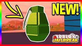 🔴 NEW GRENADES UPDATE! Roblox Jailbreak NEW UPDATE INFO! GRENADES CONFIRMED   Roblox Jailbreak LIVE