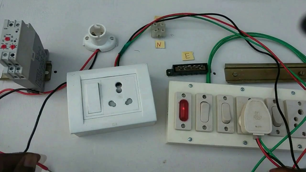 maxresdefault switch box connection one switch one socket in tamil youtube extension board wiring diagram at bakdesigns.co