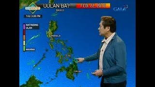 Weather update as of 6:00 a.m. (February 22, 2018)