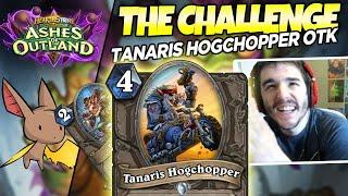 THE CHALLENGE - Tanaris Hogchopper Shudderwock OTK ft. markmckz | Firebat Hearthstone