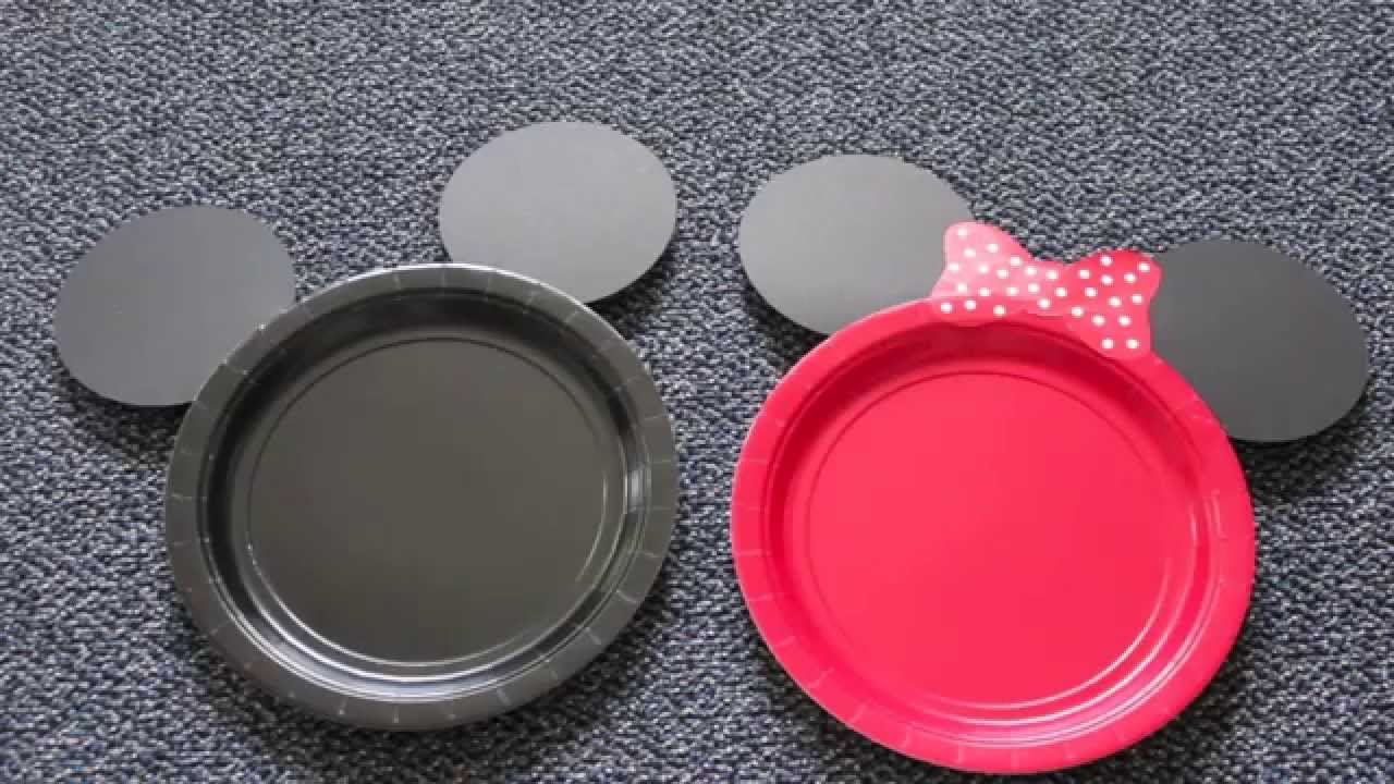 DIY Mickey u0026 Minnie Mouse Plates : mickey mouse plastic plates - Pezcame.Com