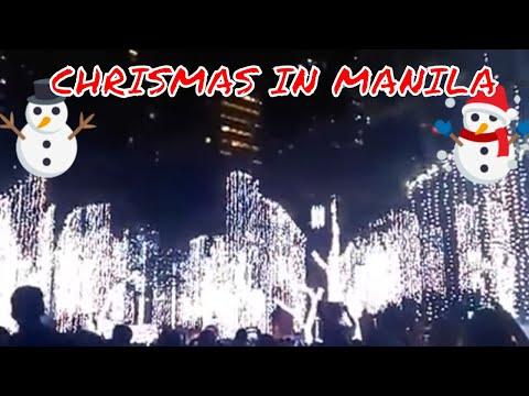 Christmas lights at Ayala Triangle Garden, Makati, Metro Manila, Philippines 2017