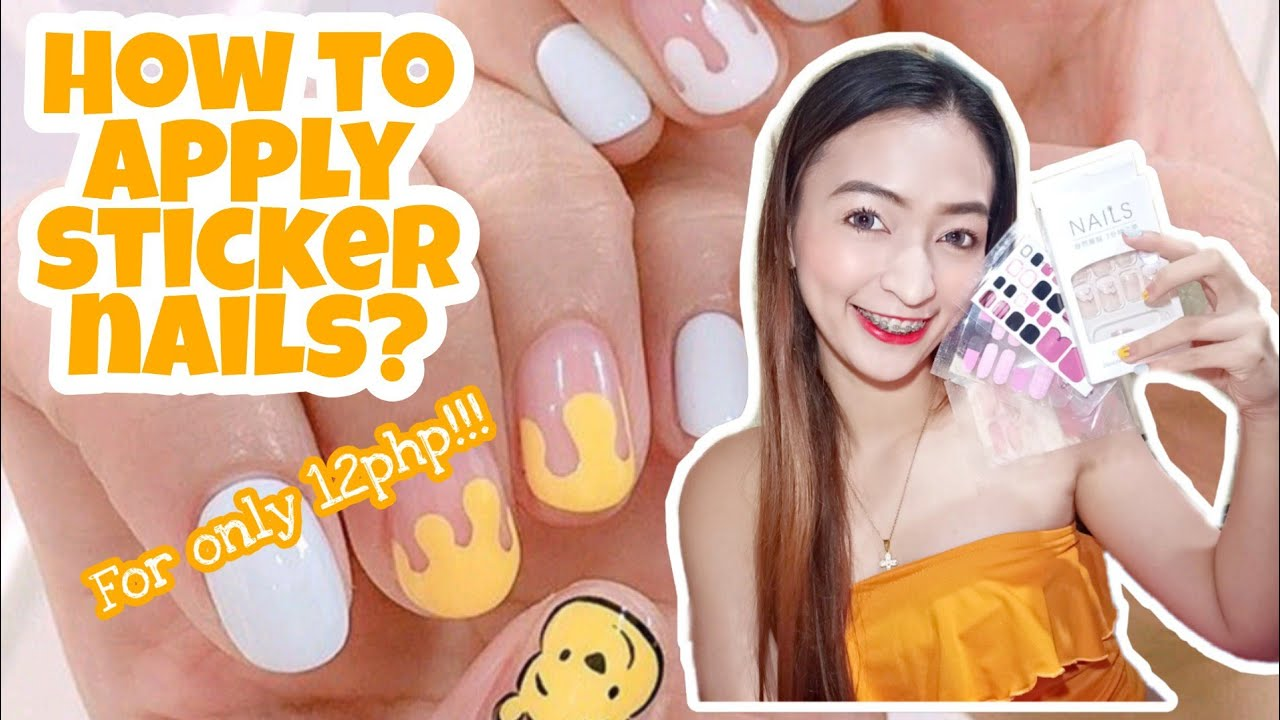 How to apply sticker nails | Affordable sticker nails