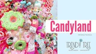 Candyland Christmas Tree - Gumdrop Christmas Ornaments u0026 Sprinkles
