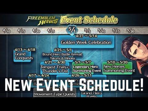 FEH Event Schedule Released! Golden Week, Tempest Trials & More! | FEH News 【Fire Emblem Heroes】
