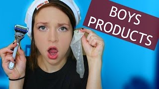 One of Alexis G. Zall's most viewed videos: TESTING BOYS PRODUCTS!