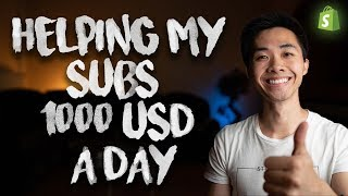 Baixar Helping My Subs Hit $1000/Day With Shopify Dropshipping   2018