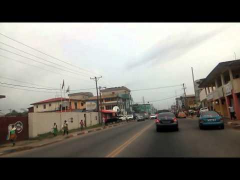 Driving Monrovia, Liberia