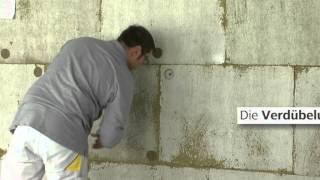 WDVS-Verarbeitungsrichtlinie: Dämmung (Steinwolle) zusätzlich verdübeln
