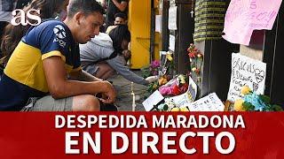 EN DIRECTO I FANS BOCA despiden a MARADONA I Diario AS
