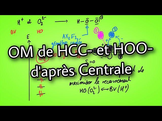 Orbitales moléculaires de HCC- et HOO-