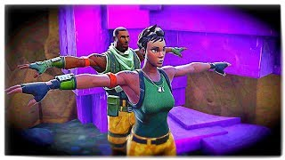 T-POSING AS DEFAULT SKINS! (Fortnite Battle Royale)