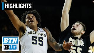 Highlights: Wolverines Prevail in Double Overtime   Purdue at Michigan   Jan. 9, 2020