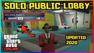 GTA 5 Online - How to Get a SOLO PUBLIC LOBBY - NEVER GET GRIEFED -  UPDATED 2020 (GTA V 1.50)