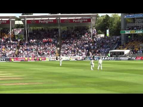 Mitchell Johnson bowling 3rd Ashes Test Edgbaston