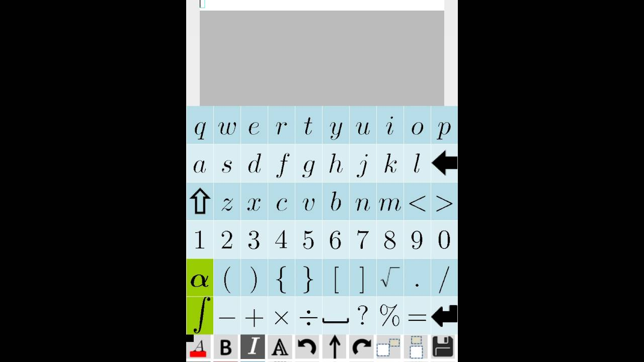 Phần mềm Equation Editor trên ANDROID