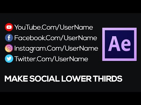 How to Make Social Media Lower Thirds - After Effects Tutorial