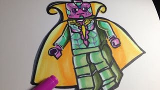 How to draw the Avengers - Age of Ultron - Vision - Lego Speed Draw #69