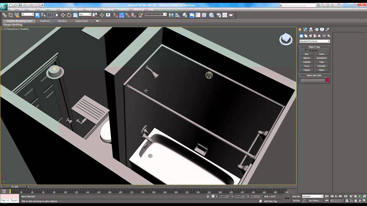 3ds max tutorial interior architectural design bathroom for Bathroom design questions