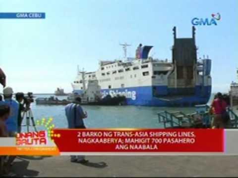 UB: 2 barko ng Trans-Asia Shipping Lines, nagkaaberya; mahigit 700 pasahero ang naabala